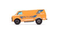 Orange metal toy car