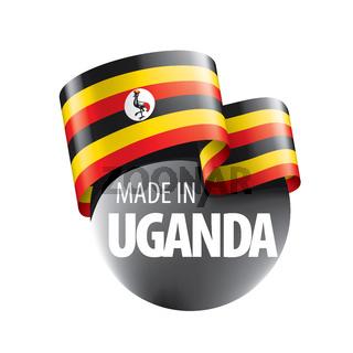 Uganda flag, vector illustration on a white background