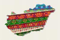 Decorative Hungary map.eps