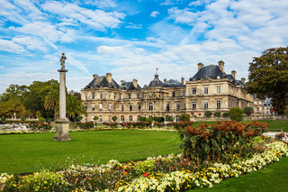 Blick auf den Luxemburggarten in Paris, Frankreich