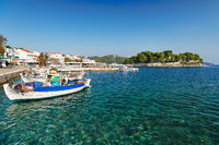 The old port in Skiathos island, Greece