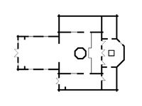 Architectural plan of Christian Orthodox Church. Medieval Orthodox Monastery, construction design.