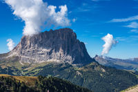 the Sassolungo - Langkofel group, valley Gardena. Dolomites, Italy