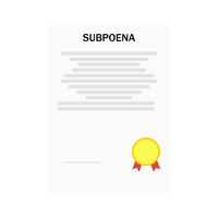 Vector illustration subpoena certificate order gold medal