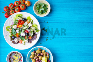 Greek salad background
