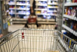 Shopping Cart in Supermerket