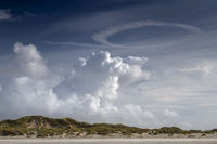 Cloud formations over the dunes on the island of Terschelling