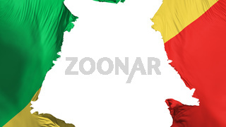 Congo Brazzaville flag ripped apart