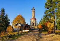 Bad Wurzelsdorf Aussichtsturm -  Bad Wurzelsdorf watch tower in Bohemia