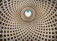 Geometric pattern of The Mosta Dome church, Malta.