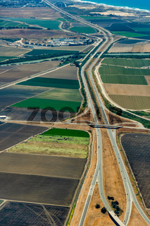 Farmland and Freeway 101 in California