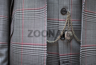 Pocket Watch And Suit Detail