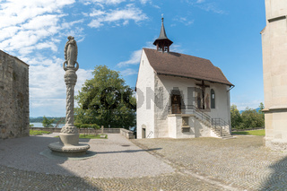 view of the Liebfrauenkapelle Chapel in the historic old town of Rapperswil