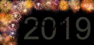 Brillantfeuerwerk zu Neujahr 2019