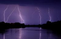 Lightning at Summer Night