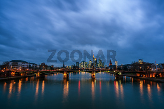 Cityscape of Frankfurt am Main.