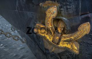Der goldene Anker (Hafen Eckernfoerde, Schleswig-Holstein)