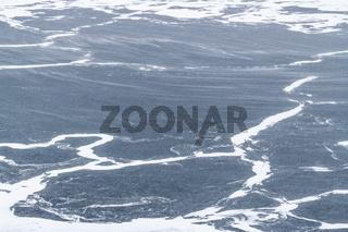 eisbedeckte Meeresbucht, Soeroeya, Finnmark