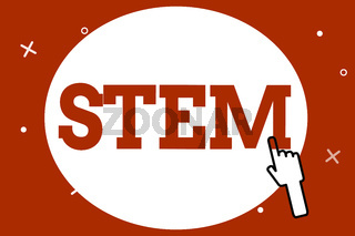 Conceptual hand writing showing Stem. Business photo showcasing Life Sciences Engineering in all aspect Continuous expanding technology