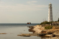 Chersonesus lighthouse is an active lighthouse on Cape Chersonesus of the Crimean Peninsula. Administratively belongs to the city of Sevastopol and is located in its westernmost point