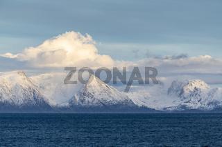 Blick zur Insel Seiland, Finnmark