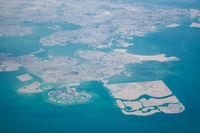 Aerial view of Bahrain