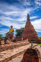 Buddha statue, Wat Lokaya Sutharam temple, Ayutthaya, Thailand