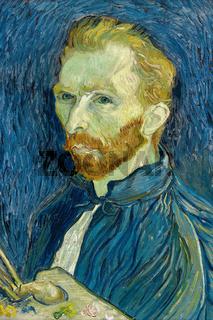 Self Portrait Vincent van Gogh 1889