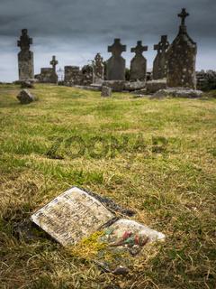 Celtic graveyard in Ireland