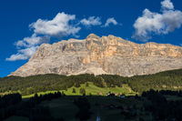 Sasso di Santa Croce in eastern Dolomites, Badia valley, South Tyrol, Italy