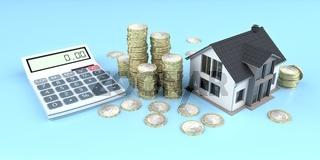 Calculator Euro Coins Money House