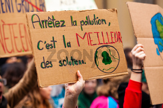 French placard at ecological protest