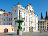 Historic square at the Hradcany in Prague