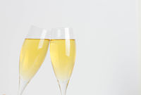 Making A Toast With Two Champagne Glasses