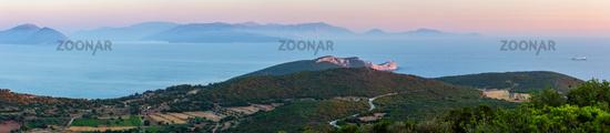 Sunset South cape of Lefkas island, Greece