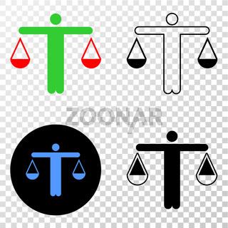 Judge Vector EPS Icon with Contour Version