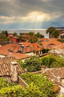 Turkey View Over The Houses Of Kaleici Antalya