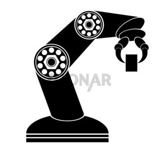 Robotic Production Line. Industrial Mechanical Robot Arm.