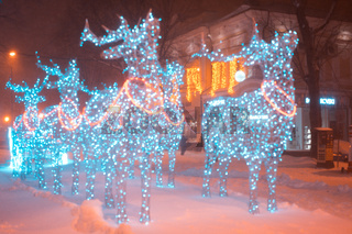 Christmas deer from garlands