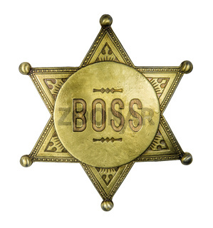 Isolated Vintage Boss Badge