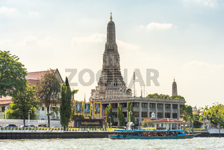 The major tourist attraction and Buddhist temple Wat Arun in Bangkok