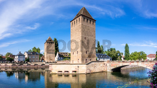 Strasbourg scenery water towers