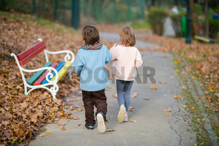 realationship break concept with couple of kids