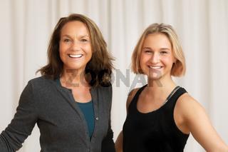 two women portrait