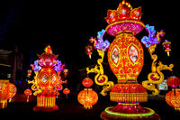 Dragon Lights Albuquerque, Silk lanterns a Chinese traditional art celebrates the Chinese New Year