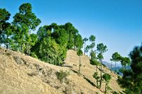 Spring mountain landscape of Outer Himalayas