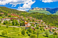 Picturesque mountain village of Vesio view