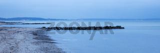Steinsteg an der Ostseekueste