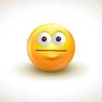 Emoticon face with rolling eyes