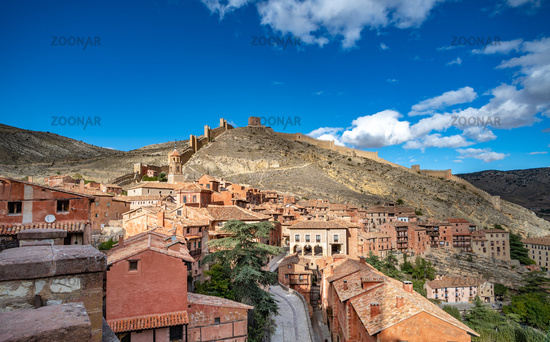 Panoramic view of Albarracin, a picturesque medieval village inAragon, Spain